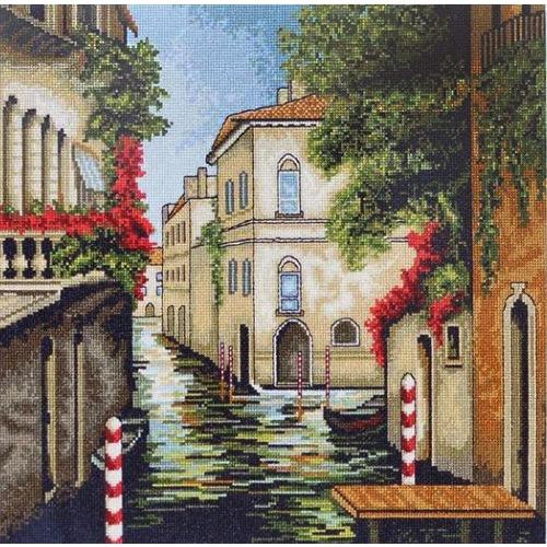 """Набор для вышивания крестом Luca-S """"Венеция в цветах"""" (фото)"""