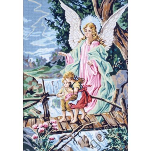 """Канва/ткань с нанесенным рисунком Gobelin-L """"Ангел хранитель"""""""