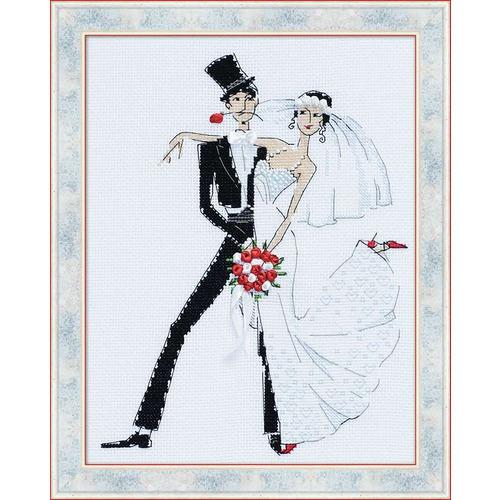 """Набор для вышивания крестом Риолис """"Свадебное танго"""""""