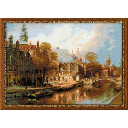 """Набор для вышивания крестом Риолис """"Амстердам. Старая церковь и Церковь св. Николая Чудотворца (Клинкенберг И.)"""""""