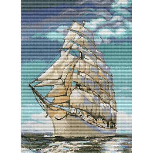 """Набор для вышивания крестом Luca-S """"Корабль"""" (фото)"""