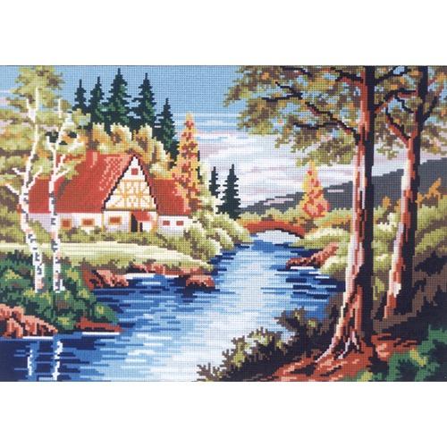 """Канва с нанесенным рисунком Gobelin-L """"Тихая река"""""""