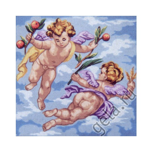 """Канва с нанесенным рисунком Gobelin-L """"Ангелочки в розовом"""""""