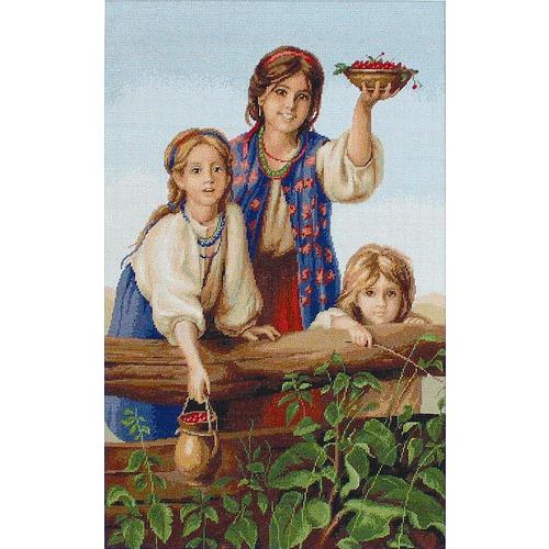 """Набор для вышивания крестом Luca-S """"Купите ягод (Платонов Х.)"""" (фото)"""