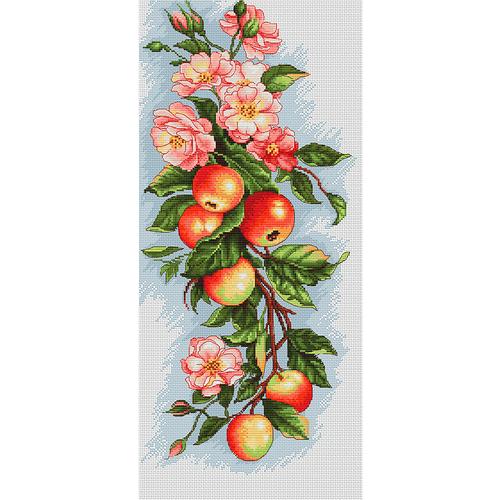 """Набор для вышивания крестом Luca-S """"Композиция с яблоками"""" (фото)"""