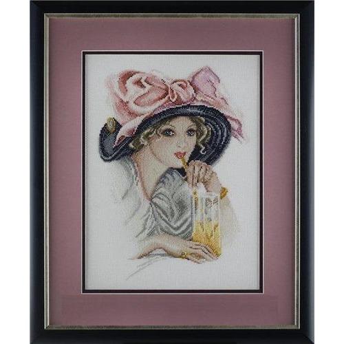 """Набор для вышивания крестом Марья искусница """"Девушка с розовым бантом"""" (фото)"""