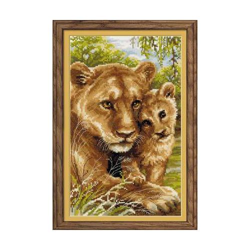 """Набор для вышивания крестом Риолис """"Львица с львёнком"""""""