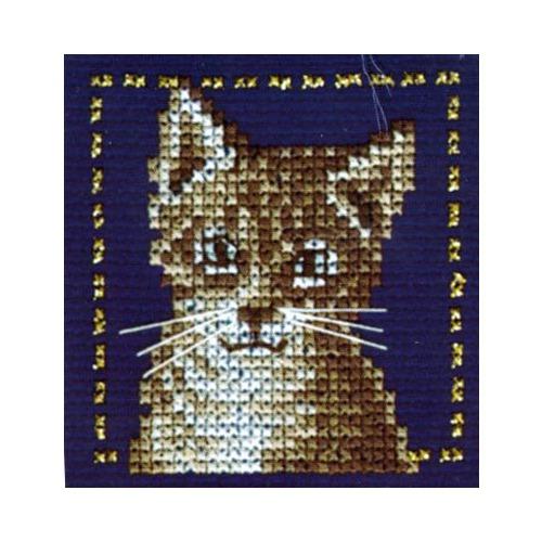 """Набор для вышивания крестом LANARTE """"Серый кот"""" (фото)"""