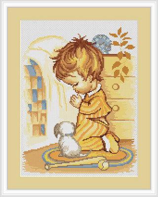 """Набор для вышивания крестом Luca-S """"Мольба мальчика"""""""