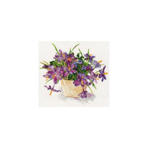 """Набор для вышивания крестом Алиса """"Цветущий сад: Крокусы"""""""