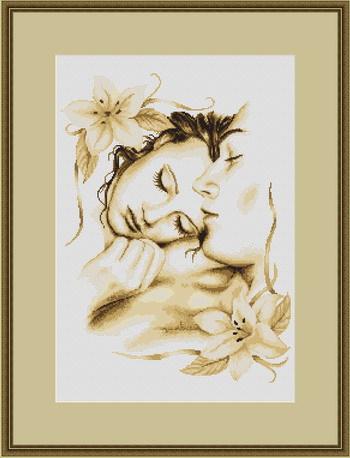 """Набор для вышивания крестом Luca-S """"Влюбленная пара"""""""