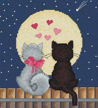 """Набор для вышивания крестом Luca-S """"Кити и Том"""""""