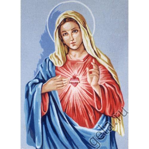 """Канва с нанесенным рисунком Gobelin-L """"Доброе сердце Девы Марии"""""""