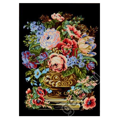"""Канва с нанесенным рисунком Gobelin-L """"Пионы в вазе"""""""