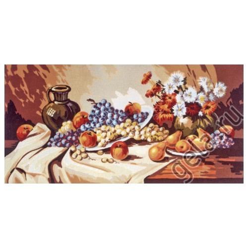 """Канва с нанесенным рисунком Gobelin-L """"Фрукты с глиняным кувшином"""""""