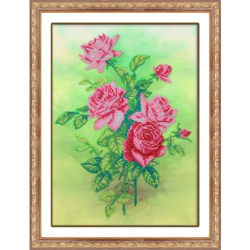 """Набор для вышивания бисером Паутинка """"Розовые розы"""""""