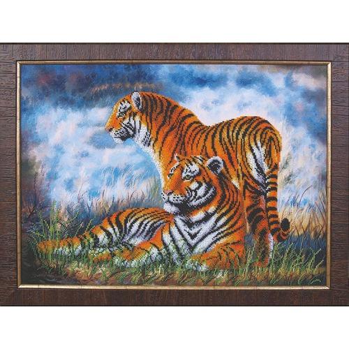 """Набор для вышивания бисером Магия канвы """"Туманное утро. Тигры"""""""