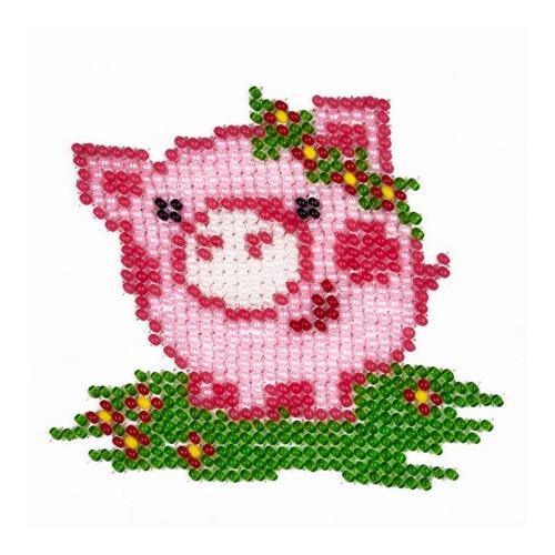 """Набор для вышивания бисером Louise """"Розовый поросенок"""""""