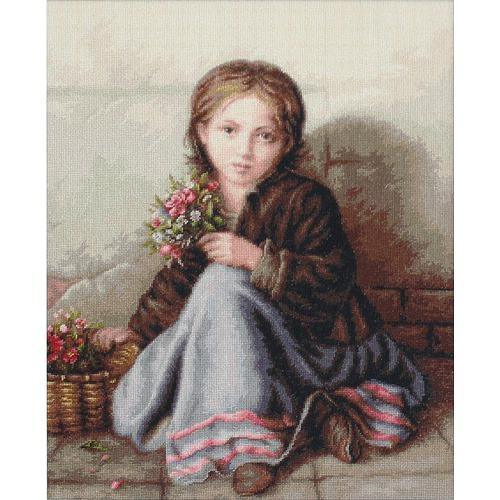 """Набор для вышивания крестом Luca-S """"Портрет девочки"""" (фото)"""
