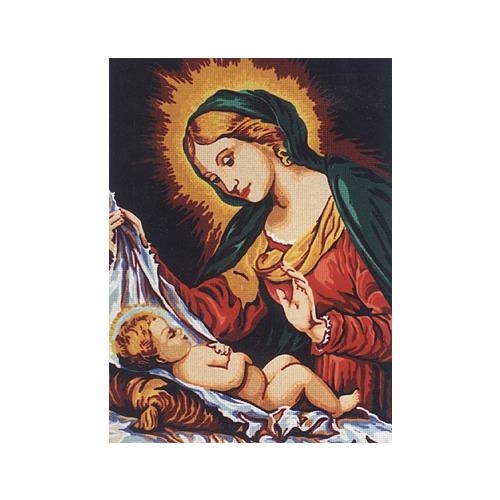 """Канва с нанесенным рисунком Diamant """"Мадонна со спящим младенцем"""""""