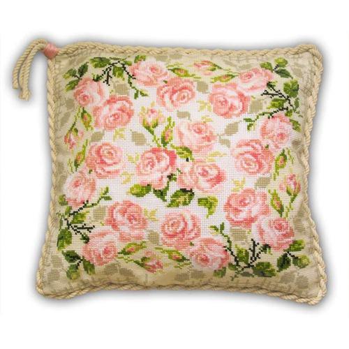 """Набор для вышивания крестом Риолис """"Подушка с розами"""""""