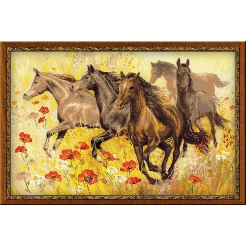 """Набор для вышивания крестом Риолис """"Табун лошадей"""""""