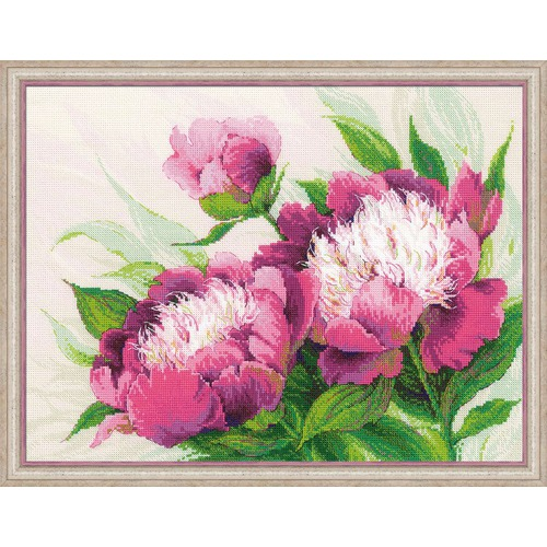 """Набор для вышивания крестом Риолис """"Розовые пионы"""" (фото)"""