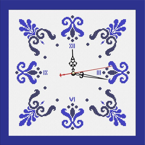 """Набор для вышивания бисером Zengana """"Часы. Зима"""" (фото)"""