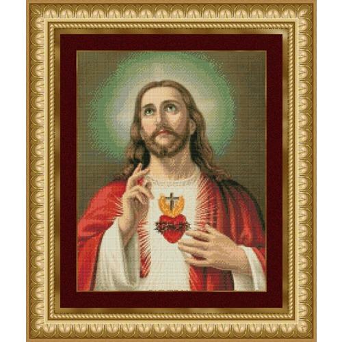 """Набор для вышивания крестом Kustom Krafts Inc. """"Святое сердце Иисуса"""" (фото)"""