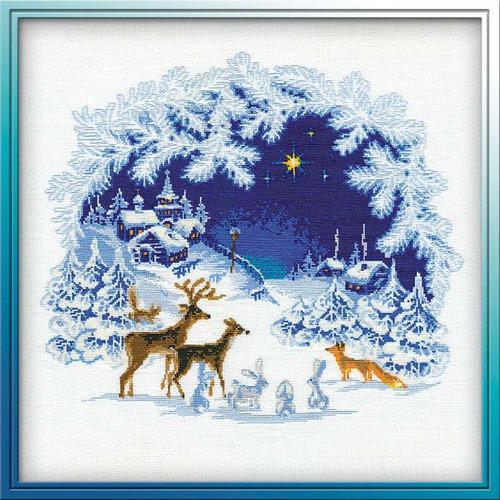 """Набор для вышивания крестом Риолис """"Рождество"""""""