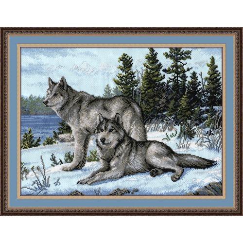 """Набор для вышивания крестом Овен """"Волки"""""""