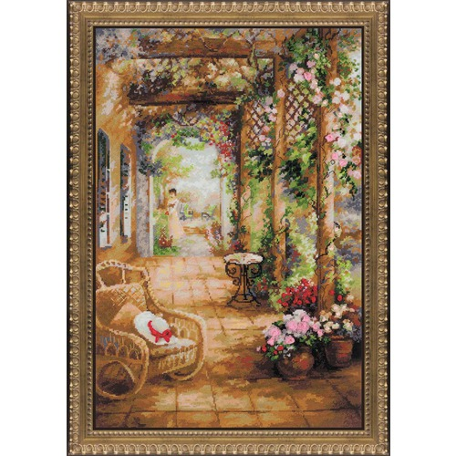 """Набор для вышивания крестом Риолис """"Свидание в саду"""" (фото)"""