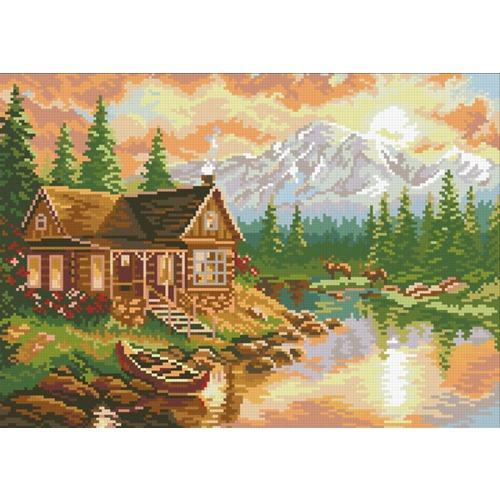 """Набор для выкладывания мозаики Паутинка """"Вечер в горах"""""""