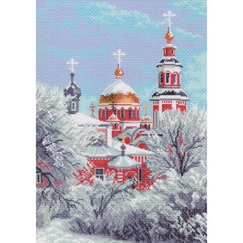 "Канва/ткань с нанесенным рисунком Матрёнин посад ""Зимний собор"""