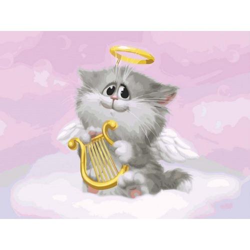 """Набор для раскрашивания Белоснежка """"Котенок-ангелочек"""""""