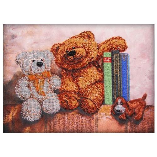 """Набор для вышивания бисером Глурия (Астрея) """"Плюшевые медведи 2"""""""