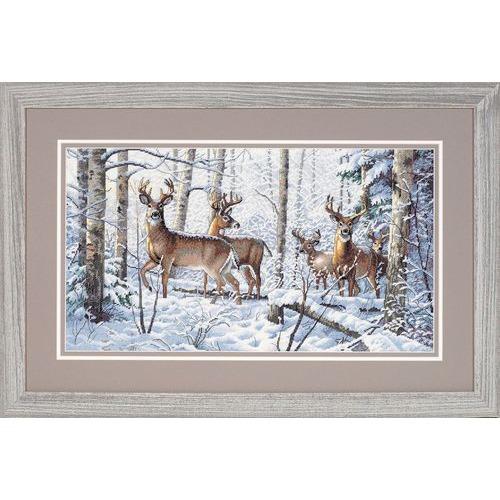 """Набор для вышивания крестом Dimensions """"Зима в лесу"""" (фото)"""