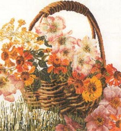 """Набор для вышивания крестом Thea Gouverneur """"Корзина цветов"""" (фото)"""
