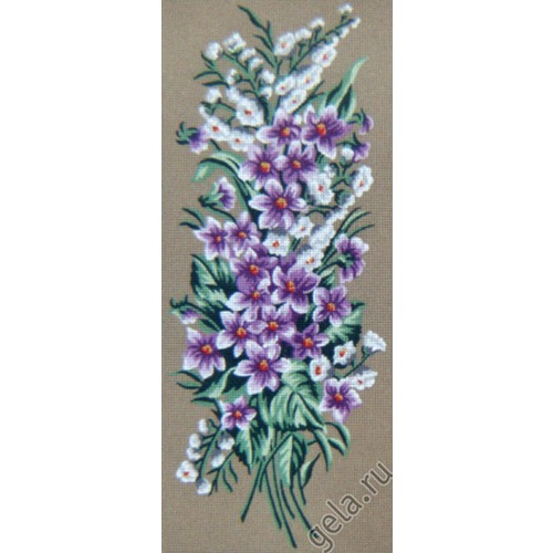 """Канва с нанесенным рисунком Gobelin-L """"Сиреневые цветочки"""""""