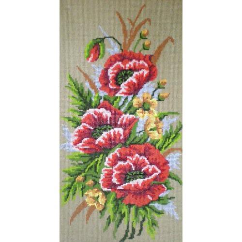 """Канва/ткань с нанесенным рисунком Gobelin-L """"Маки"""" (фото)"""