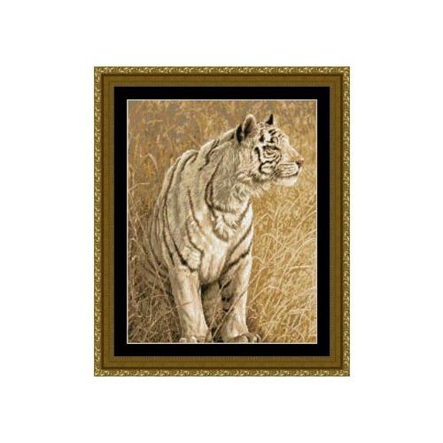 "Набор для вышивания крестом Kustom Krafts Inc. ""Охота белого тигра"" (фото)"