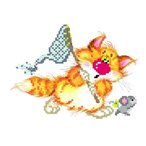 """Набор для вышивания бисером Матрёнин посад """"Без кота - жизнь не та! Салочки"""""""
