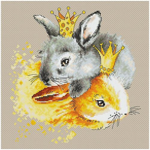 """Набор для вышивания крестом Luca-S """"Кролики"""" (фото)"""