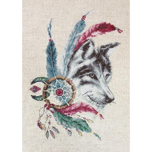 """Набор для вышивания крестом Luca-S """"Волк"""" (фото)"""