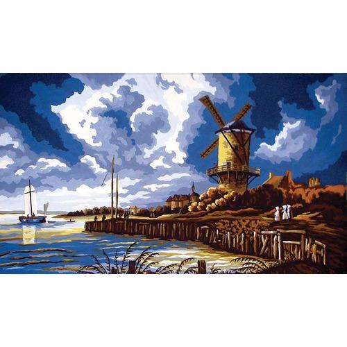 "Канва/ткань с нанесенным рисунком Grafitec ""Ветряная мельница"""