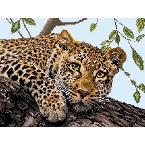 """Канва с нанесенным рисунком Матрёнин посад """"Леопард"""" (фото)"""