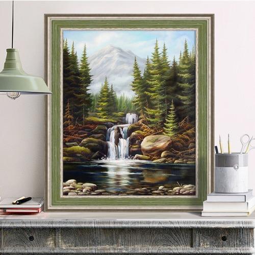 """Набор для выкладывания мозаики Алмазная живопись """"Бурный водопад"""""""
