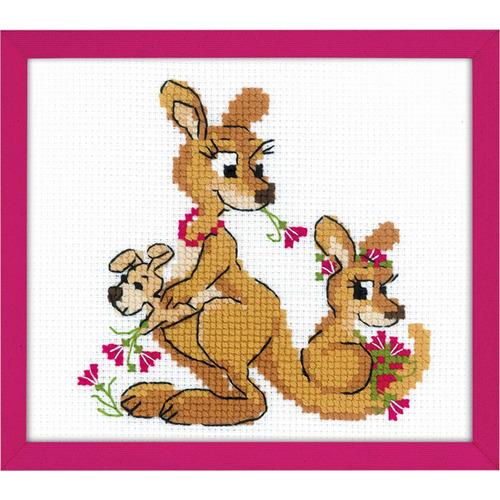 """Набор для вышивания крестом Риолис """"Где гуляли кенгуру"""" (фото)"""