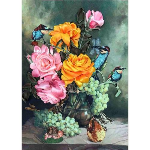 """Набор для вышивания лентами Каролинка """"Цветочный нектар"""""""