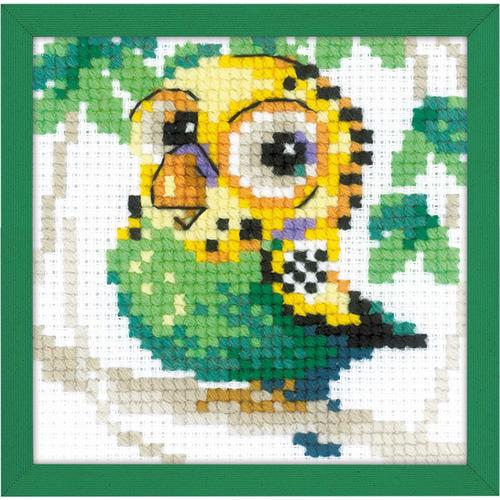 """Набор для вышивания крестом Риолис """"Волнистый попугайчик"""" (фото)"""